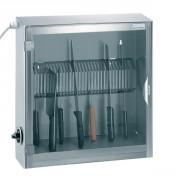 armoire de stérilisation 1 porte 20 couteaux avec grille en tôle découpée